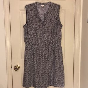 Merona black & white sleeveless pullover dress XXL